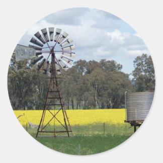 Windmill Tank Canola Sticker