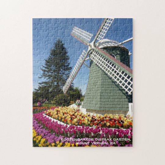 Windmill & Tulips (Skagit Valley) Jigsaw Puzzle