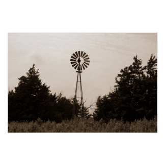 Windmill, Viersen Ranch Poster