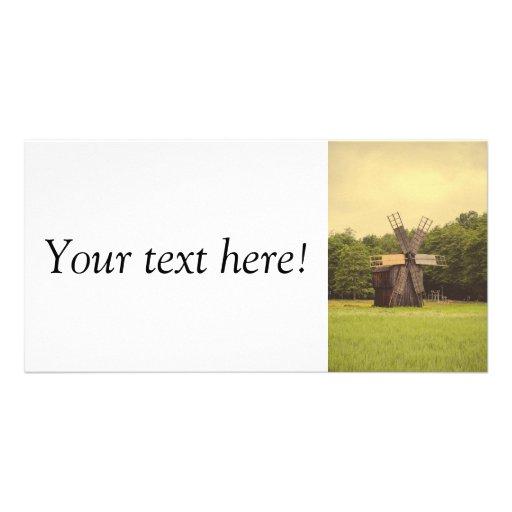 Windmill, Village Museum,Sibiu Personalized Photo Card