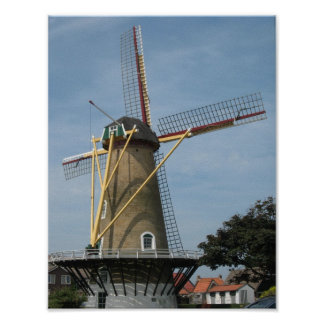 Windmill Westkapelle Zeeland Photo Poster