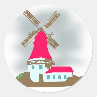 Windmill windmill round stickers