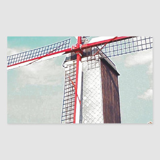 Windmill with red painted sails stickers