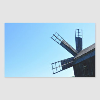 windmill wood wind mill rustic rural propeller stickers