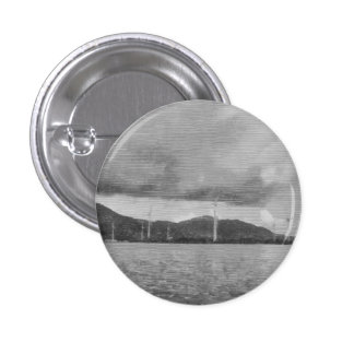 Windmills along the shore 1 inch round button