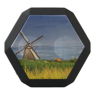 Windmills in Kinderdijk, Holland, Netherlands Black Bluetooth Speaker