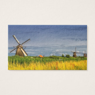 Windmills in Kinderdijk, Holland, Netherlands Business Card