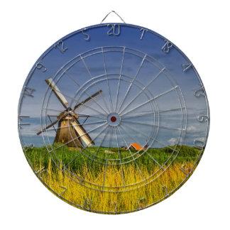 Windmills in Kinderdijk, Holland, Netherlands Dartboard