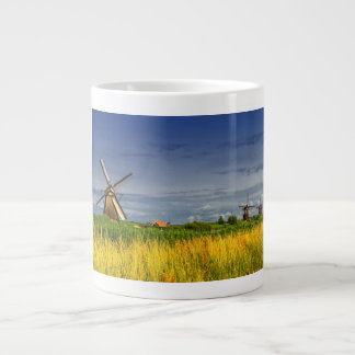 Windmills in Kinderdijk, Holland, Netherlands Large Coffee Mug