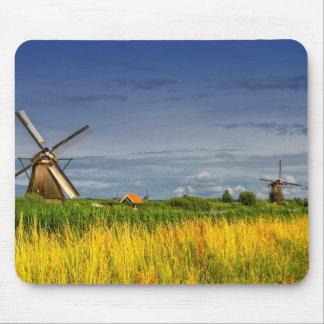 Windmills in Kinderdijk, Holland, Netherlands Mouse Pad