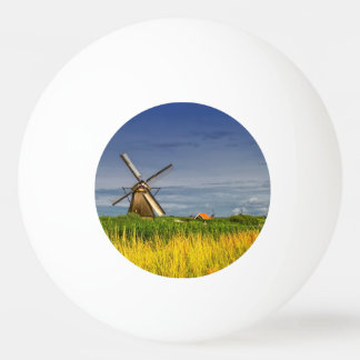 Windmills in Kinderdijk, Holland, Netherlands Ping Pong Ball