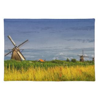 Windmills in Kinderdijk, Holland, Netherlands Placemat