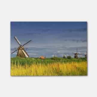 Windmills in Kinderdijk, Holland, Netherlands Post-it® Notes
