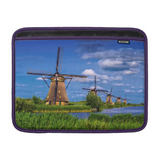 Windmills in Kinderdijk, Holland, Netherlands Sleeve For MacBook Air