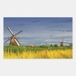 Windmills in Kinderdijk, Holland, Netherlands Sticker