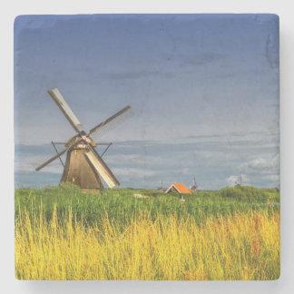 Windmills in Kinderdijk, Holland, Netherlands Stone Coaster