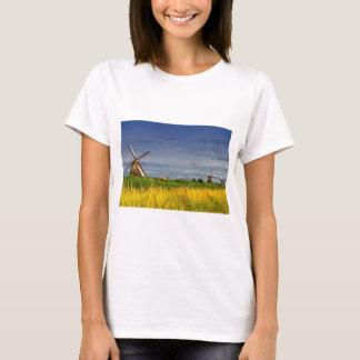 Windmills in Kinderdijk, Holland, Netherlands T-Shirt
