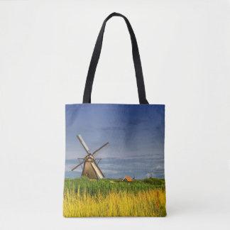 Windmills in Kinderdijk, Holland, Netherlands Tote Bag
