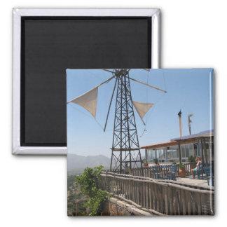 Windmills of Crete Square Magnet