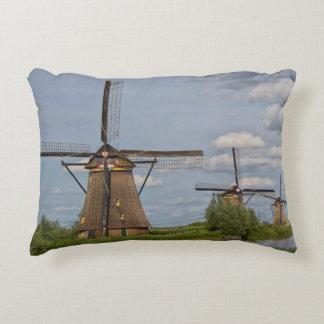 windmills of Kinderdijk world heritage site Accent Pillow