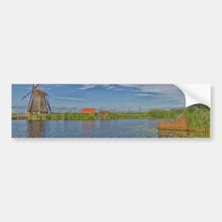 windmills of Kinderdijk world heritage site Bumper Sticker