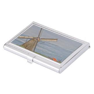 windmills of Kinderdijk world heritage site Business Card Holder