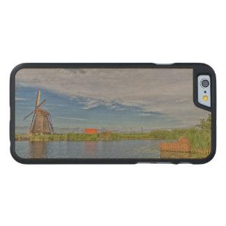 windmills of Kinderdijk world heritage site Carved Maple iPhone 6 Case