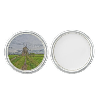windmills of Kinderdijk world heritage site Cuff Links
