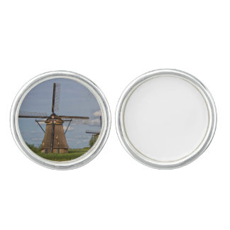 windmills of Kinderdijk world heritage site Cufflinks
