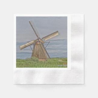 windmills of Kinderdijk world heritage site Disposable Napkins