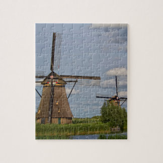 windmills of Kinderdijk world heritage site Jigsaw Puzzle