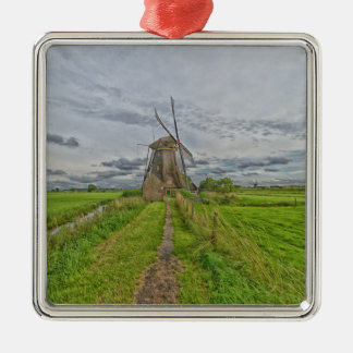 windmills of Kinderdijk world heritage site Metal Ornament