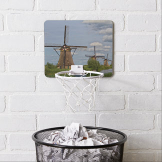 windmills of Kinderdijk world heritage site Mini Basketball Hoop