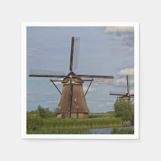 windmills of Kinderdijk world heritage site Napkin