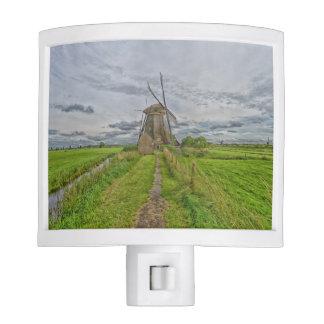 windmills of Kinderdijk world heritage site Nite Lights