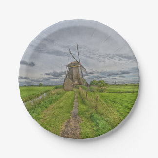 windmills of Kinderdijk world heritage site Paper Plate