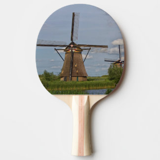 windmills of Kinderdijk world heritage site Ping Pong Paddle