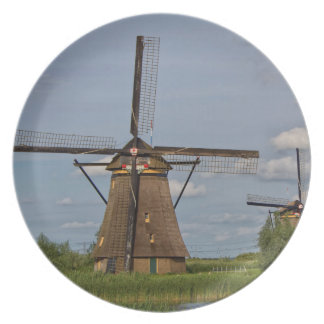 windmills of Kinderdijk world heritage site Plate