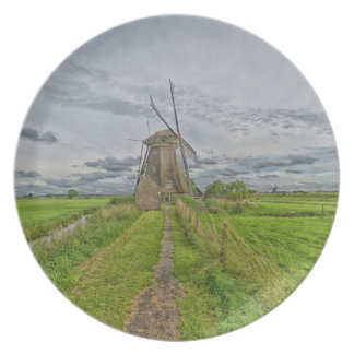 windmills of Kinderdijk world heritage site Plate
