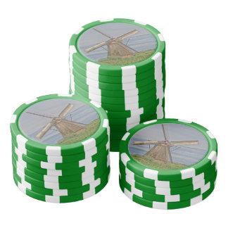 windmills of Kinderdijk world heritage site Poker Chips