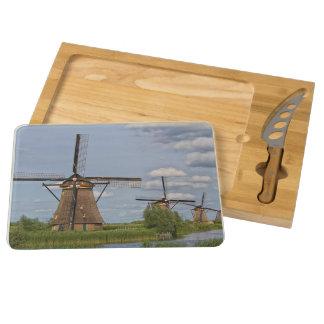 windmills of Kinderdijk world heritage site Round Cheese Board