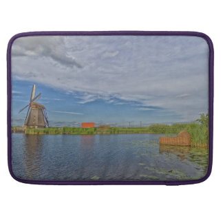 windmills of Kinderdijk world heritage site Sleeve For MacBook Pro