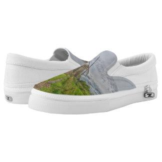 windmills of Kinderdijk world heritage site Slip-On Sneakers