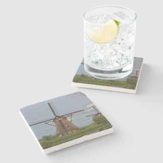 windmills of Kinderdijk world heritage site Stone Coaster