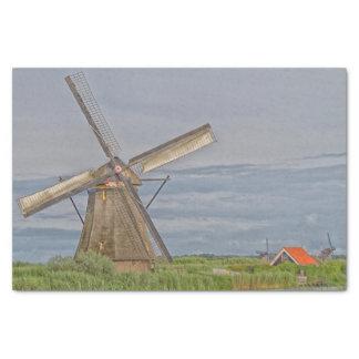 windmills of Kinderdijk world heritage site Tissue Paper