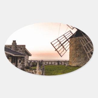 Windmills of Montedor Oval Sticker