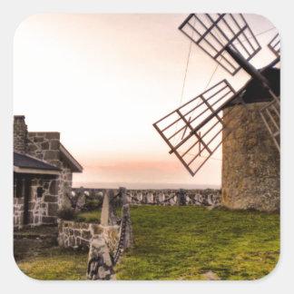 Windmills of Montedor Square Sticker