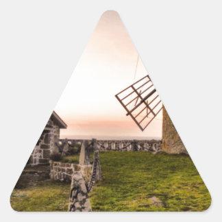 Windmills of Montedor Triangle Stickers