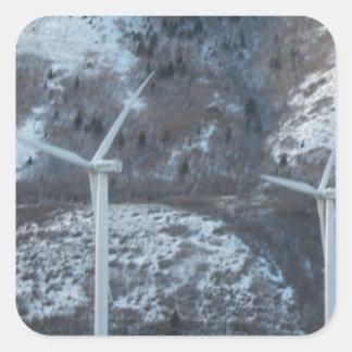 windmills square sticker
