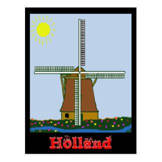windmillsntulips, Holland, Holland Postcard